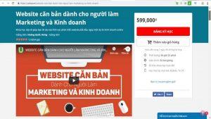 Khóa học Website căn bản dành cho người làm Marketing và Kinh doanh