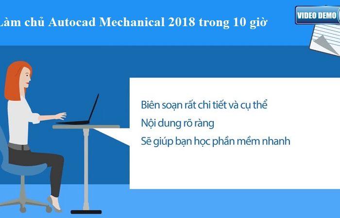 Khóa học làm chủ Autocad Mechanical 2018 trong 10 giờ