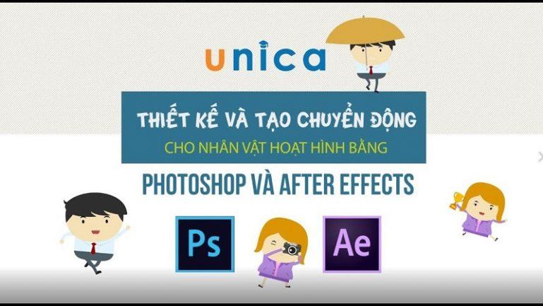 Thiết kế và tạo chuyển động cho nhân vật hoạt hình bằng Photoshop và After Effects