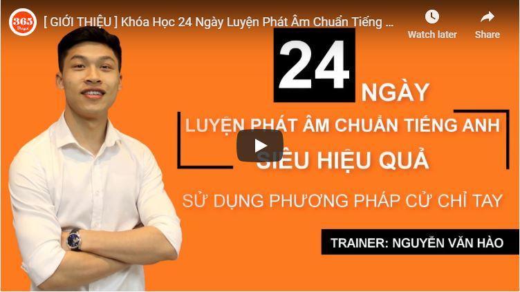 24 ngày luyện phát âm chuẩn tiếng anh theo phương pháp cử chỉ tay