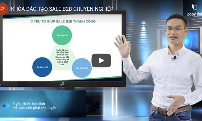 Khóa học đào tạo Sale B2B chuyên nghiệp dành cho nhân viên kinh doanh