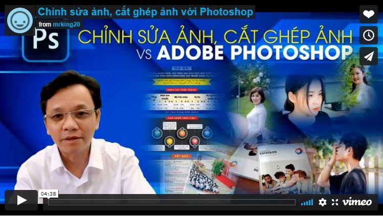 Khóa học chỉnh sửa ảnh, cắt ghép ảnh với Photoshop